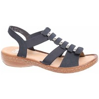 Topánky Ženy Sandále Rieker 6285014 Čierna, Hnedá