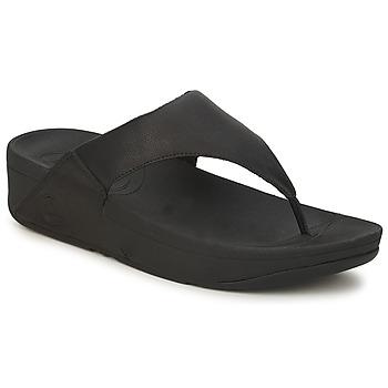 Topánky Ženy Žabky FitFlop LULU LEATHER Čierna