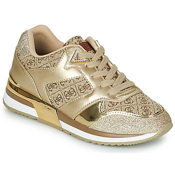 Topánky Ženy Nízke tenisky Guess MOTIV Zlatá