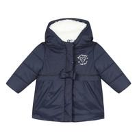 Oblečenie Dievčatá Vyteplené bundy 3 Pommes 3R42012-49 Námornícka modrá