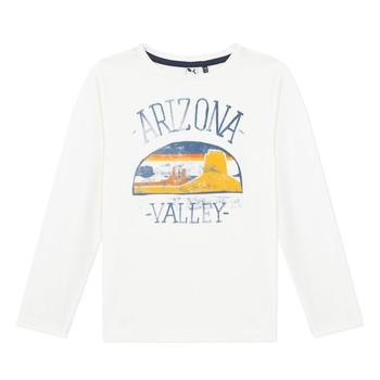 Oblečenie Chlapci Tričká s dlhým rukávom 3 Pommes 3R10005-19-C Biela