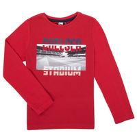Oblečenie Chlapci Tričká s dlhým rukávom 3 Pommes 3R10015-37-C Červená