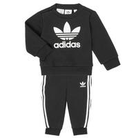 Oblečenie Deti Komplety a súpravy adidas Originals CREW SET Čierna
