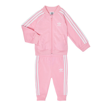 Oblečenie Dievčatá Komplety a súpravy adidas Originals SST TRACKSUIT Ružová