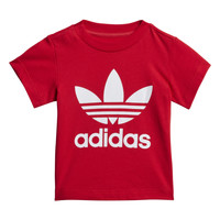 Oblečenie Deti Tričká s krátkym rukávom adidas Originals TREFOIL TEE Červená
