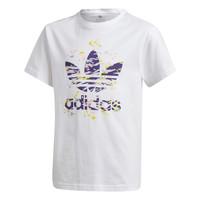 Oblečenie Dievčatá Tričká s krátkym rukávom adidas Originals TREF TEE Biela