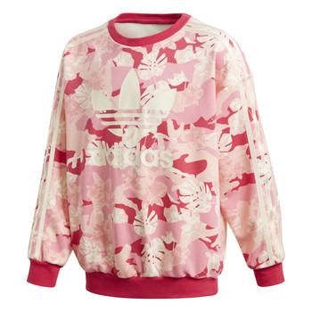 Oblečenie Dievčatá Mikiny adidas Originals CREW Ružová