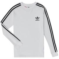 Oblečenie Deti Tričká s dlhým rukávom adidas Originals 3STRIPES LS Biela