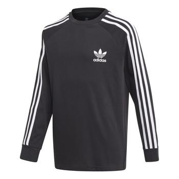 Oblečenie Chlapci Tričká s dlhým rukávom adidas Originals 3STRIPES LS Čierna