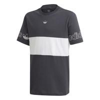 Oblečenie Chlapci Tričká s krátkym rukávom adidas Originals PANEL TEE Šedá / Biela