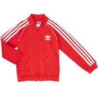 Oblečenie Chlapci Vrchné bundy adidas Originals SST TRACKTOP Červená