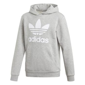 Oblečenie Chlapci Mikiny adidas Originals TREFOIL HOODIE Šedá