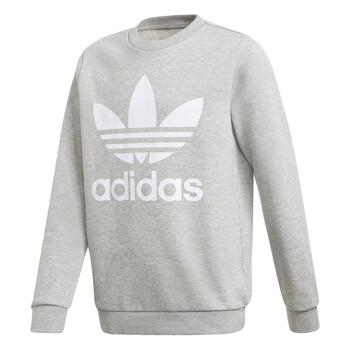 Oblečenie Chlapci Mikiny adidas Originals TREFOIL CREW Šedá