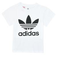 Oblečenie Deti Tričká s krátkym rukávom adidas Originals TREFOIL TEE Biela