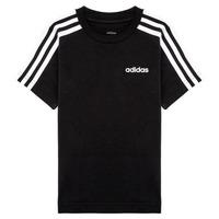 Oblečenie Chlapci Tričká s krátkym rukávom adidas Performance YB E 3S TEE Čierna