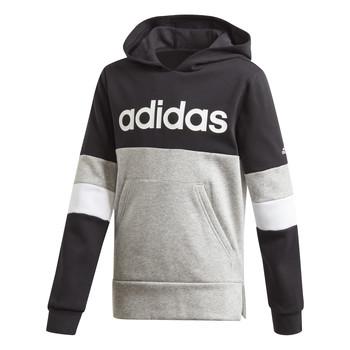 Oblečenie Chlapci Mikiny adidas Performance YB LIN CB HD FL Čierna / Šedá