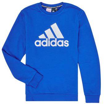 Oblečenie Chlapci Mikiny adidas Performance JB MH CREW Modrá