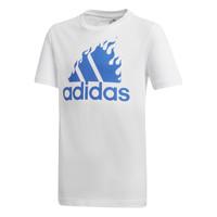 Oblečenie Chlapci Tričká s krátkym rukávom adidas Performance JB BOS GRAPH Biela
