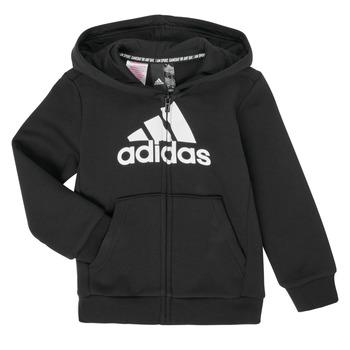 Oblečenie Chlapci Mikiny adidas Performance B MH BOS FZ FL Čierna
