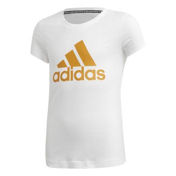 Oblečenie Dievčatá Tričká s krátkym rukávom adidas Performance YG MH BOS TEE Biela