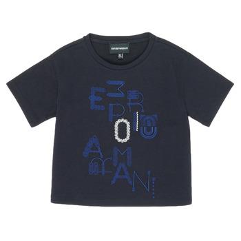 Oblečenie Dievčatá Tričká s krátkym rukávom Emporio Armani 6H3T7R-2J4CZ-0926 Námornícka modrá