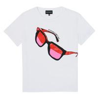 Oblečenie Dievčatá Tričká s krátkym rukávom Emporio Armani 6H3T7T-3J2IZ-0100 Biela