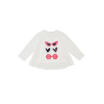 Oblečenie Dievčatá Tričká s dlhým rukávom Emporio Armani 6HEM01-3J2IZ-0101 Biela