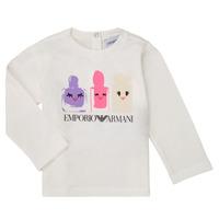 Oblečenie Dievčatá Tričká s dlhým rukávom Emporio Armani 6HET02-3J2IZ-0101 Biela