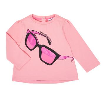 Oblečenie Dievčatá Tričká s dlhým rukávom Emporio Armani 6HET02-3J2IZ-0315 Ružová