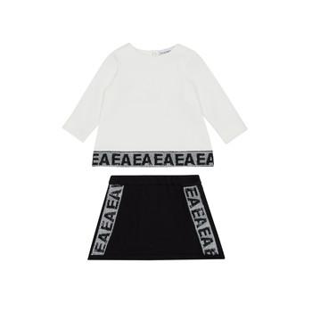Oblečenie Dievčatá Komplety a súpravy Emporio Armani 6HEV08-3J3PZ-0101 Biela / Čierna