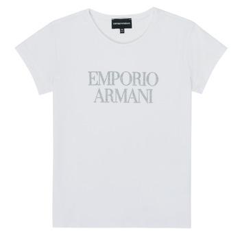 Oblečenie Dievčatá Tričká s krátkym rukávom Emporio Armani 8N3T03-3J08Z-0100 Biela