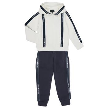 Oblečenie Chlapci Súpravy vrchného oblečenia Emporio Armani 6H4V02-1JDSZ-0101 Námornícka modrá / Biela