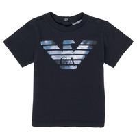 Oblečenie Chlapci Tričká s krátkym rukávom Emporio Armani 6HHTA9-1JDXZ-0920 Námornícka modrá