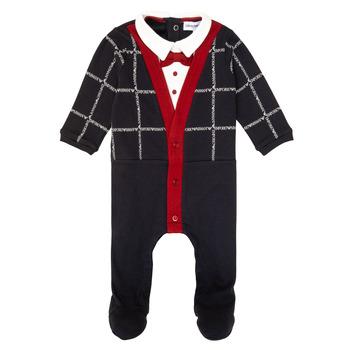 Oblečenie Chlapci Pyžamá a nočné košele Emporio Armani 6HHD12-4J3WZ-F912 Námornícka modrá