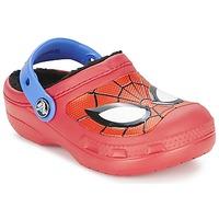 Topánky Chlapci Nazuvky Crocs SPIDERMAN LINED CLOG Červená