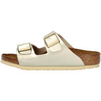 Topánky Dievčatá Šľapky Birkenstock 1014841 Platinum