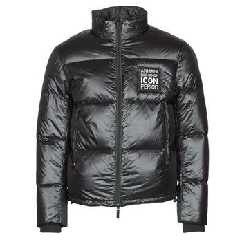 Oblečenie Muži Vyteplené bundy Armani Exchange 8NZBP2 Čierna