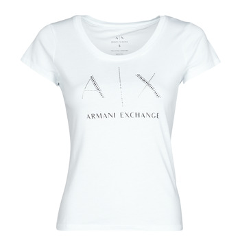 Oblečenie Ženy Tričká s krátkym rukávom Armani Exchange 8NYT83 Biela