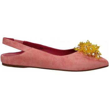 Topánky Ženy Balerínky a babies 181 GAROFANO CAMOSCIO rosa
