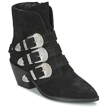 Topánky Ženy Polokozačky Pepe jeans WESTERN W BUCKLE Čierna