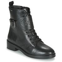 Topánky Ženy Polokozačky Pepe jeans MALDON LOGO Čierna