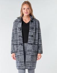Oblečenie Ženy Kabáty Derhy SAISON Šedá / Čierna