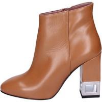 Topánky Ženy Čižmičky Albano Členkové Topánky BN981 Hnedá
