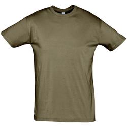 Oblečenie Muži Tričká s krátkym rukávom Sols REGENT COLORS MEN Marrón