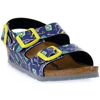 Topánky Deti Sandále Birkenstock MILANO ROBOTS BLUE CALZ S Blu