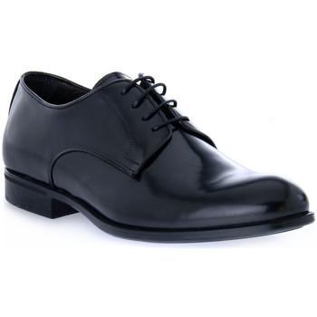 Topánky Muži Derbie Exton BRASIVATO NERO Nero