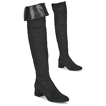 Topánky Ženy Cizmy Nad Kolenà Unisa LUKAS Čierna