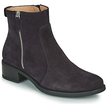 Topánky Ženy Polokozačky Unisa EBRAS Námornícka modrá
