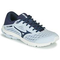 Topánky Dievčatá Bežecká a trailová obuv Mizuno WAVE RIDER JR Modrá