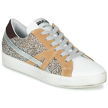 Topánky Ženy Nízke tenisky Meline IN1344 Biela / Béžová / Zlatá
